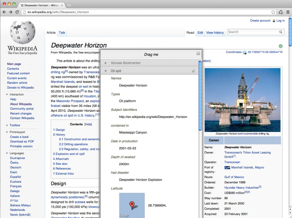 Bookmarker Wikipedia